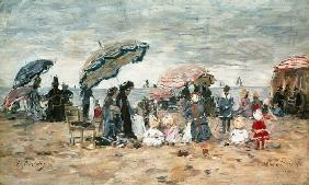 Parasols on the Beach, Trouville