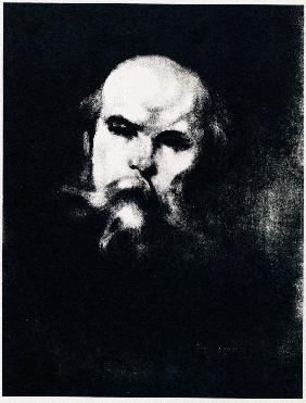 Portrait of the poet Paul Verlaine (1844-1896)