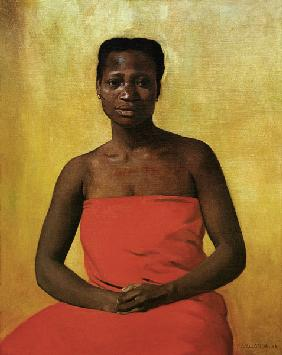 F.Vallotton / Seated negress / 1911