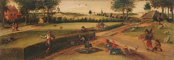 The Harvest: One of a pair of Landscapes