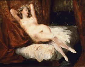 Woman with White Stockings