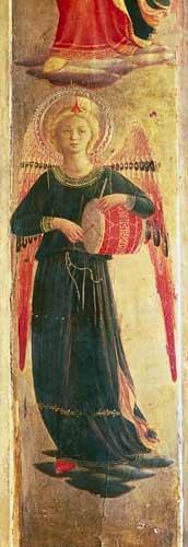 Angel beating a drum from the Linaiuoli Triptych