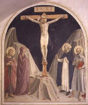 The Crucifixion, with SS. Dominic and Jerome