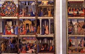 Scenes from the Life of Christ, panels one and two from the Silver Treasury of Santissima Annunziata