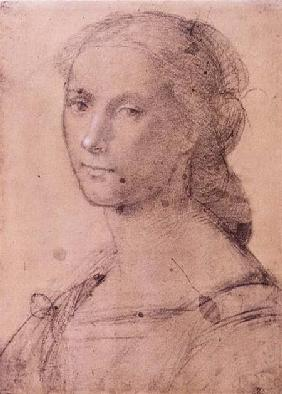 Bartolommeo, Fra : Portrait of a young woman ...