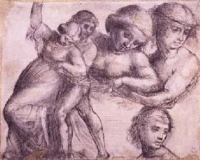 Bartolommeo, Fra : Study of a man and a woman...