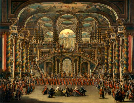 A Dance In A Baroque Rococo Palace Francesco Battaglioli