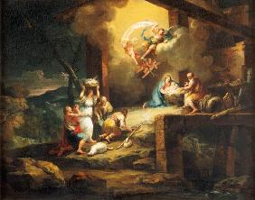 Birth Christi with adoration of the shepherds