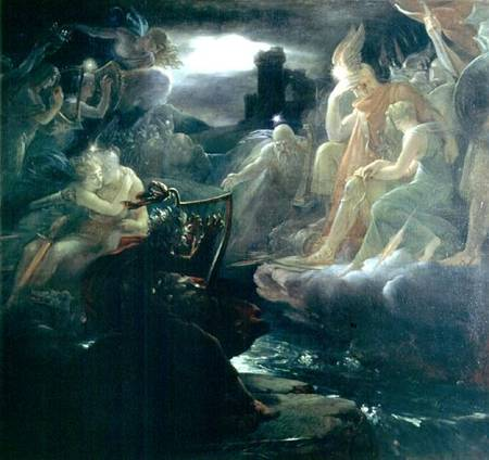 Ossian Conjuring up the Spirits on the B - François Pascal Simon ...