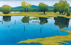 Hahn, Frank : Landscape blue and green