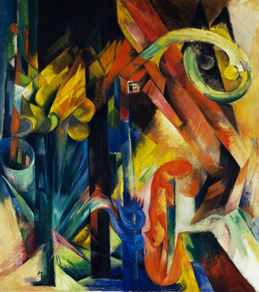 woods with squirrels franz marc as art print or hand painted oil. Black Bedroom Furniture Sets. Home Design Ideas