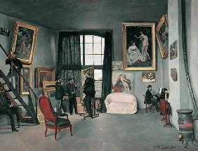 The studio of the artist in the Rue de of La Condamine in Paris.