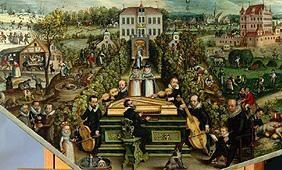 Society in the open playing instruments