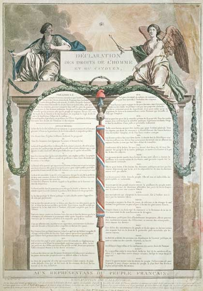 Declaration Of The Rights Of Man 10th A French School
