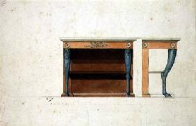Design for a Directoire console table