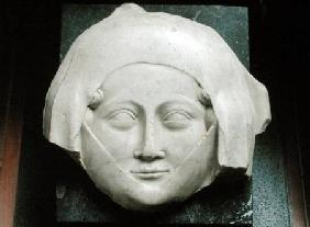 Head of an effigy of a woman