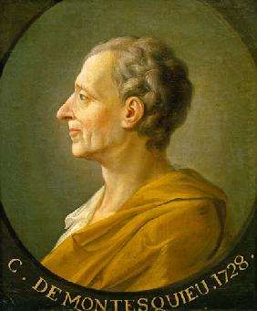 Portrait of Charles de Montesquieu (1689-1755), French philosopher and jurist