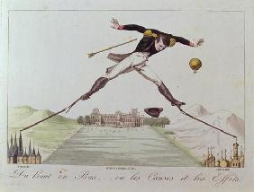 'From High to Low... or the Causes and the Effects', caricature of Napoleon's foreign policy, c.1814