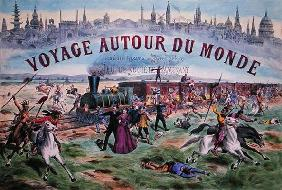 'Le Voyage Autour du Monde', cover of a box for a game based on 'Around the World in 80 Days' by Jul