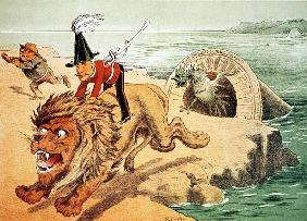 The Lion cannot face the corwing of the Cock'', The American view of the Channel Tunnel Scare, illus