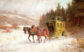 Venne, Fritz van der : The Post Coach in the Snow
