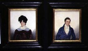 Two Portraits of a Husband and Wife in Regency Dress