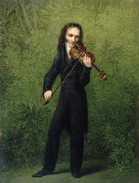 Kersting, Georg Friedrich : The violinist Nicolo Pagan...