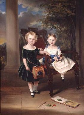 Portrait of two Children, Herbert and Rose
