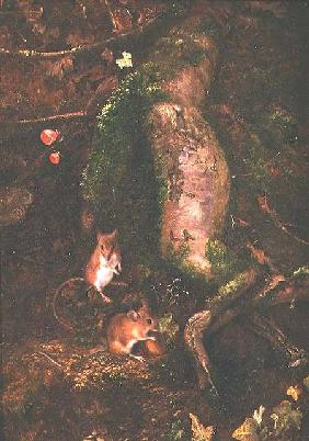 Field Mice at the Foot of a Tree (1876)