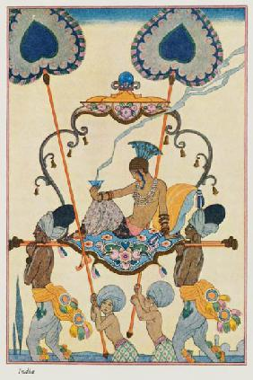 India, from 'The Art of Perfume', pub. 1912 (pochoir print)