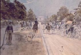 Carriages on the Champs Elysees