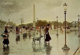 On the Place de's La Concorde in the rain