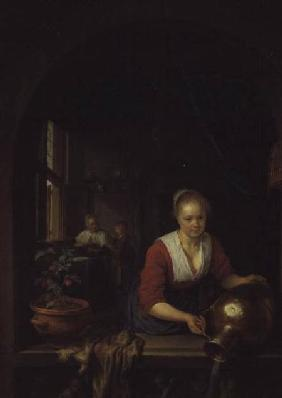 Maid Servant at a Window