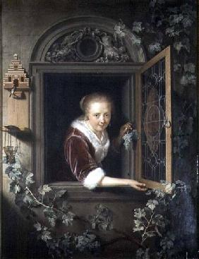 Young girl at the window