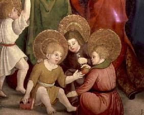 The Childhood of St. Joseph, detail of children playing, Swabian School