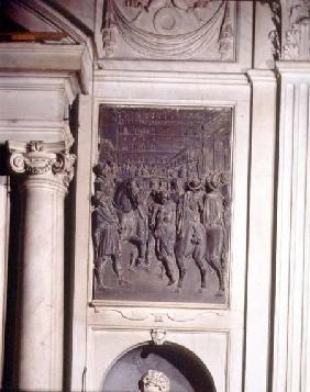 St. Agostino Preaching to the Florentines, relief from the Salviati chapel