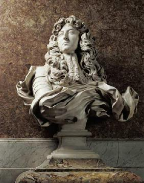 Bernini, Gianlorenzo : Portrait bust of Louis XIV...