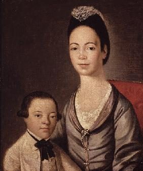Mrs. Aaron Lopez and her son, Joshua, 1772/73