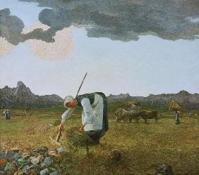 Giovanni Segantini / The Hay Harvest