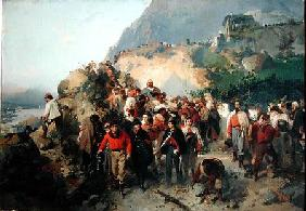 The Injured Garibaldi (1807-82) in the Aspromonte Mountains
