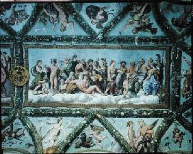 The Council of the Gods, ceiling decoration from the 'Loggia of Cupid and Psyche'