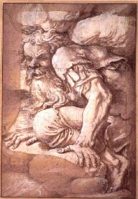 Giant, sketch for the fresco of the Fall of the Giants, Palazzo del Te, Mantua