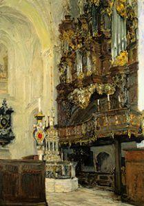Play the organ with grocer choir in the cathedral to Lübeck.