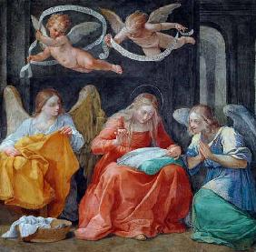 The Virgin Sewing, from the 'Cappella dell'Annunciata' (Chapel of the Annunciation) 1610 (photo)