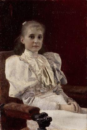 Sitting young girl