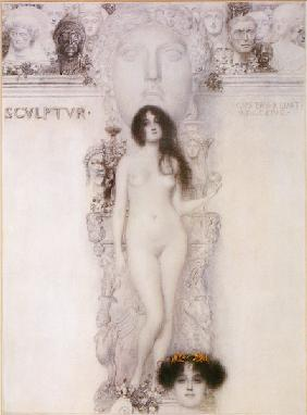 Klimt, Gustav : Master drawing for the all...