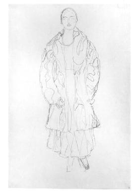 Klimt, Gustav : Standing Woman with Coat