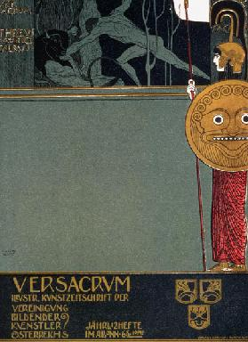 Cover of 'Ver Sacrum', the journal of the Viennese Secession, depicting Theseus and the Minotaur, at 1898
