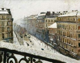 Boulevard Haussmann in the Snow
