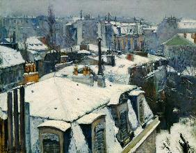 Caillebotte, Gustave : Rooftops under Snow